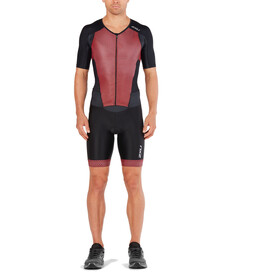 2XU Perform Full Zip Sleeved Trisuit Men black/kona team red